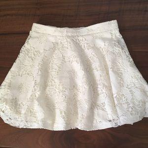 Aeropostale White Lace Skater Skirt